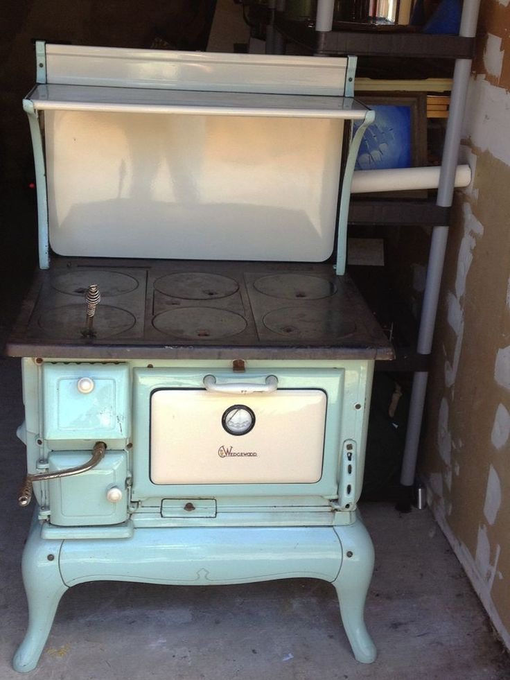 Vintage Wedgewood Wood Burning Cook Stove Pale Green And