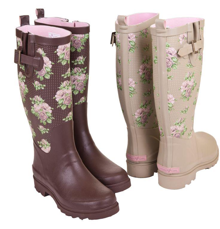 So cute! High Wellington Garden Boots