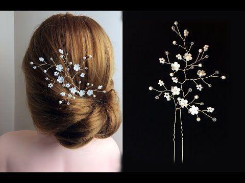 Wie man Haar Vine Pin Comb Braut Kopfschmuck einfach DIY, My Crafts und DIY Proj …   – Frisuren