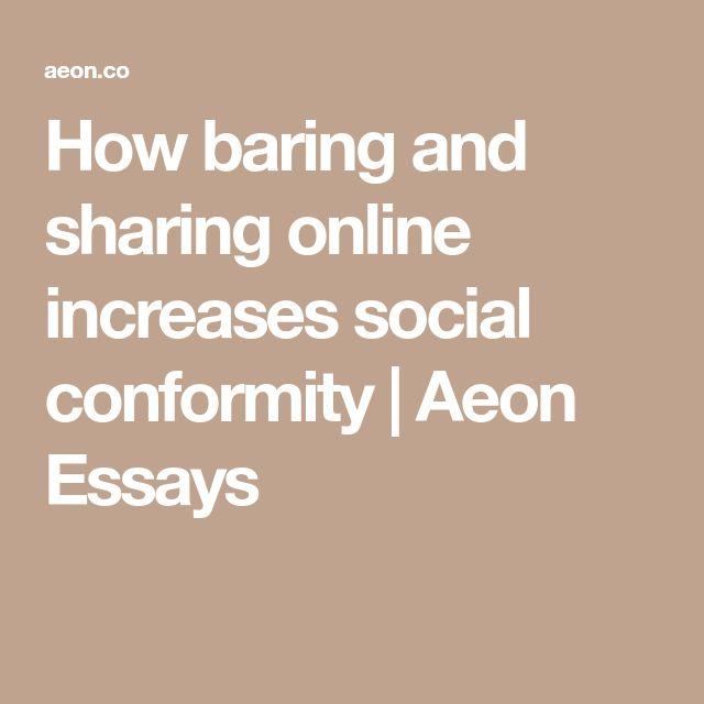 Less social conformity essay