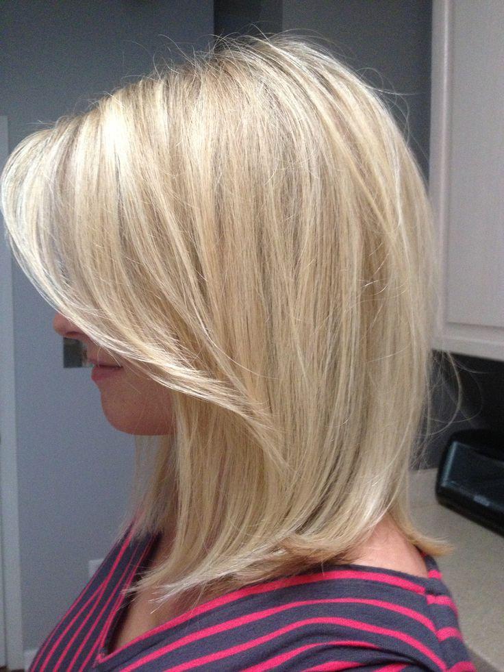 Blonde Lob By Ashley At Bukes Salon Blonde Addiction