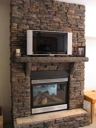 TV Above Fireplace   This One Is Done Well. An Option If You Have No