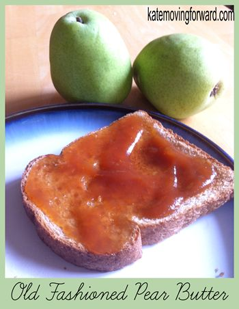 Old Fashioned Pear Butter--so easy to make, so sweetly delicious!