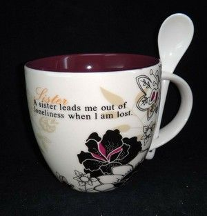 Sister love mug w/spoon