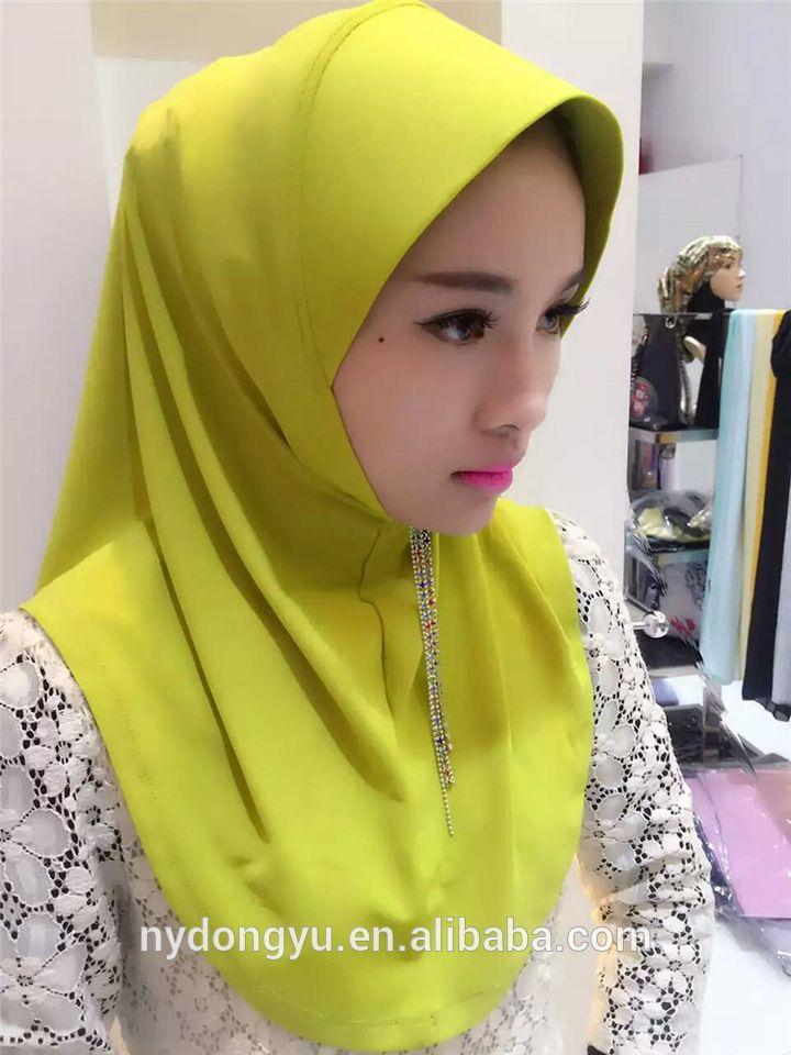 women muslim purple chiffon yellow simple hood scarf hijabs/solid color pretty muslim hijab/lual fashion muslim hijab
