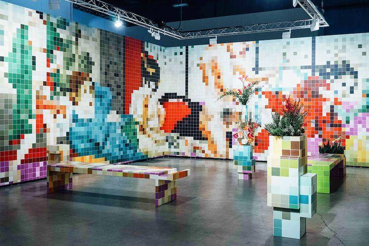 Pixelated Porn Mosaics Installation - blogs de Architecture