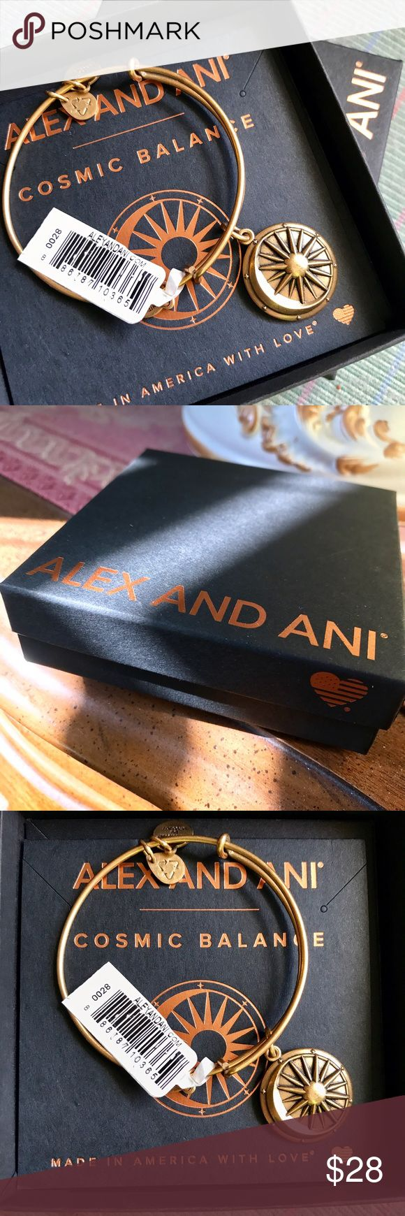 "NWT NIB Alex & Ani Cosmic Balance bangle Bracelet Rafaelian gold finish. Brand new in box with tags! Adjustable; 3/8"" - 7/8"" charm diameter. OBO. Box included! Alex & Ani Jewelry Bracelets"