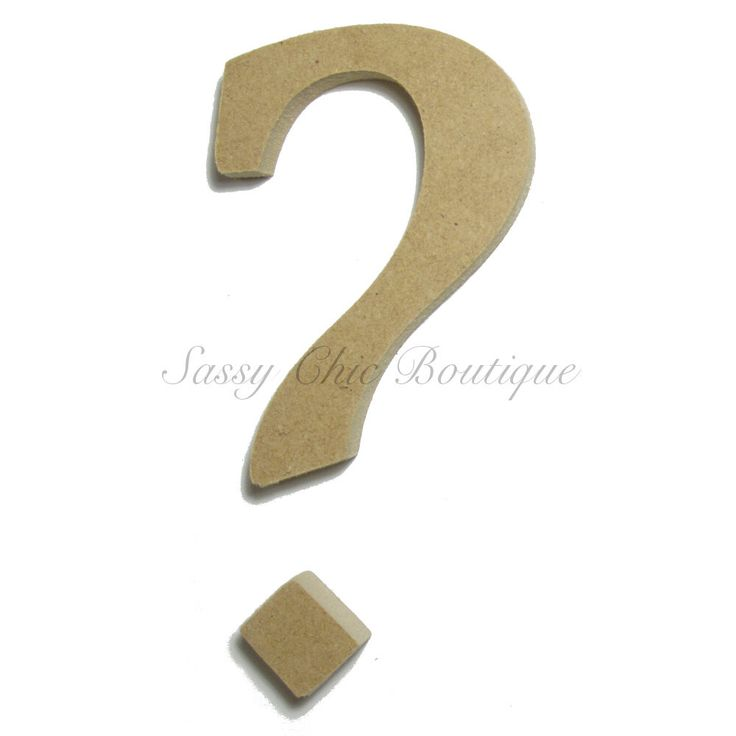 Unfinished wooden symbol quot question mark lucida