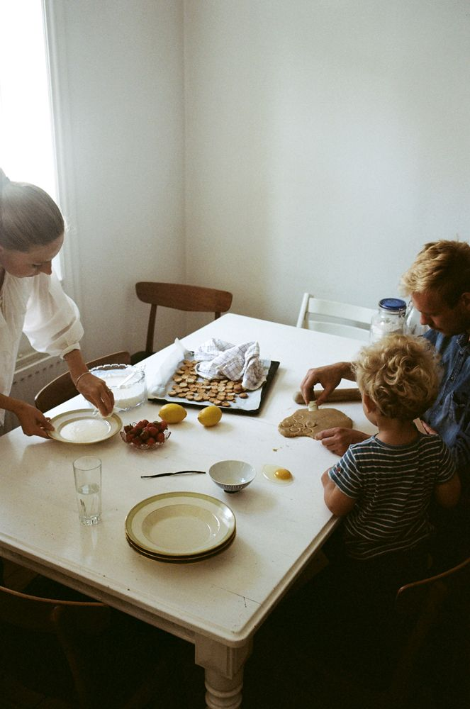 Ida Laerke and family at home in Copenhagen for the Kinfolk Table.