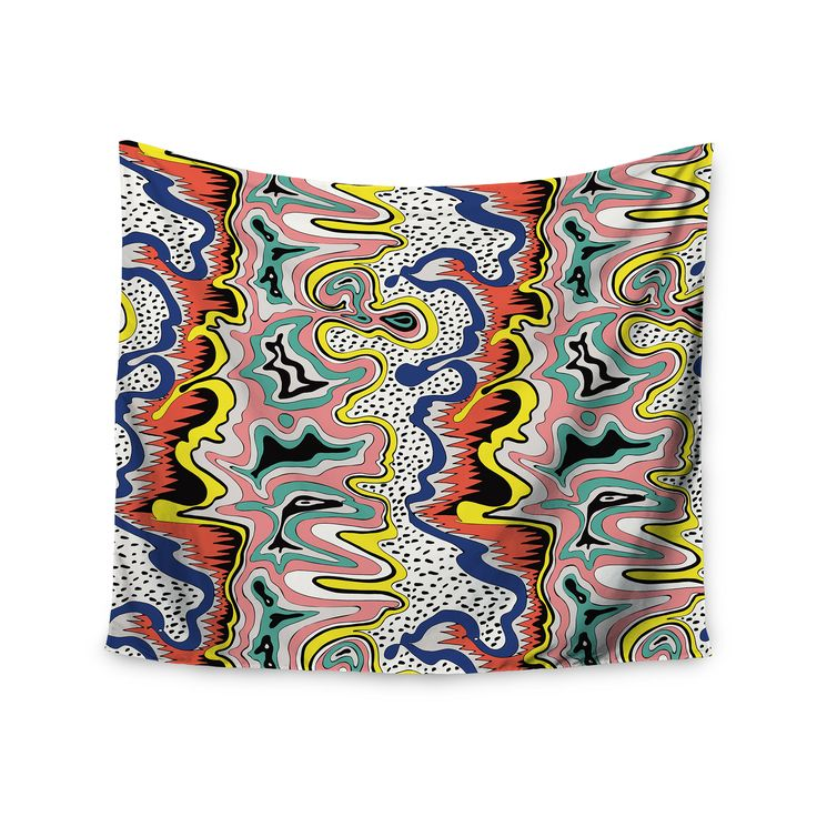 "DLKG Design ""Modern Expression"" Abstract Illustraion Wall Tapestry from KESS InHouse"