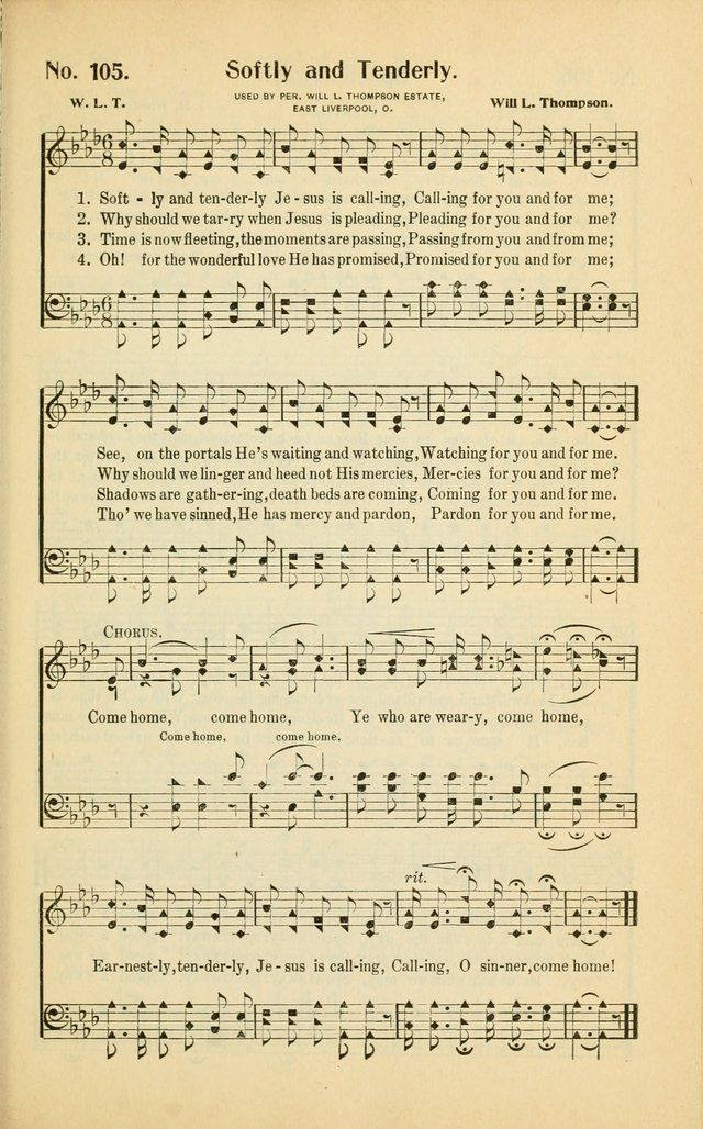 Softly and Tenderly Jesus Is Calling - Hymnary.org