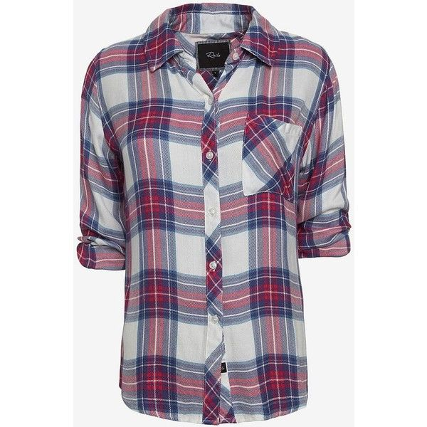 Rails Hunter Plaid Shirt: Pink/Blue ($119) ❤ liked on Polyvore featuring tops, shirts, blouses, flannel, blue flannel shirt, button down top, button down shirt, plaid flannel shirt and blue shirt