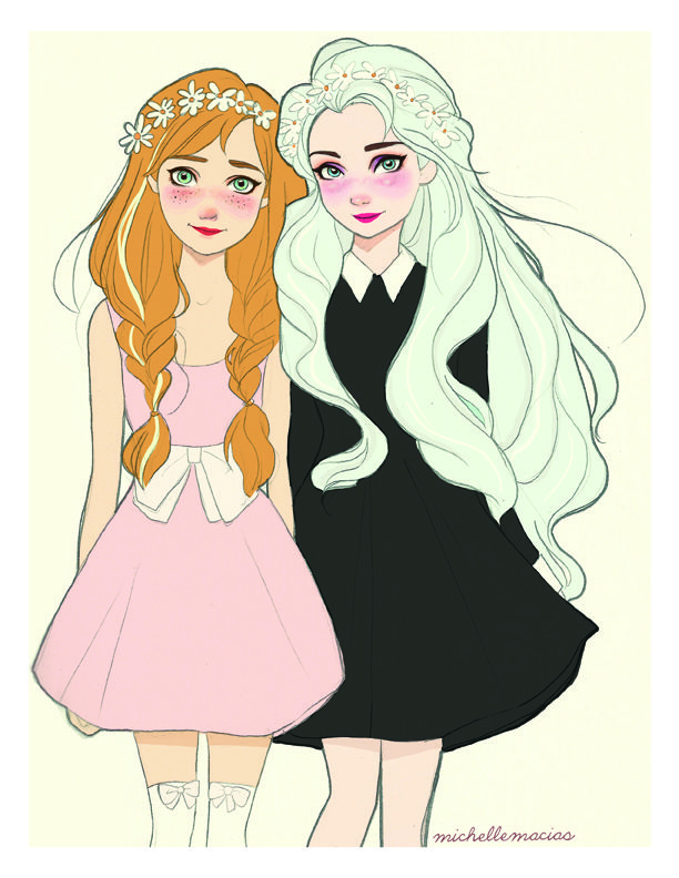 Finally!! Here they are! Anna & Elsa from Frozen :D