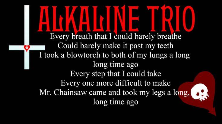 Alkaline Trio Mr. Chainsaw Lyrics