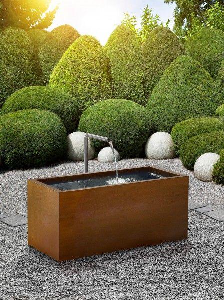 gartenbrunnen modernes design brunnen cubus | water | brunnen garten, brunnen und