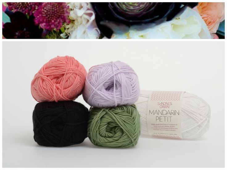 Inspirert av blomster, Mandarin Petit. 1001, 5002, 4007, 8543, 1099. #farger #fargekombinasjon #inspirasjon #blomster #garn
