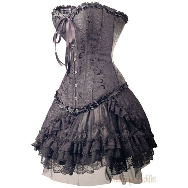 Gothic/Emo Dress found on Polyvore - what I would give to be able to buy this for my sister. So her. <3