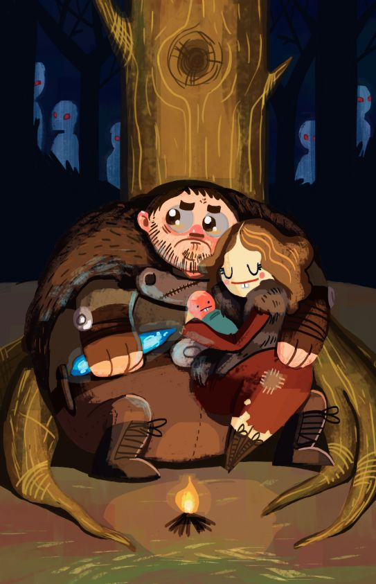 Cute Cover Art of Sam and Gilly by CaityHallArt | Game of Thrones Fan Art