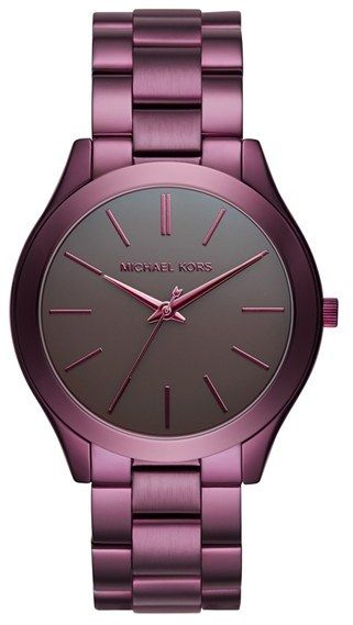 Women's Michael Michael Kors 'Slim Runway' Bracelet Watch, 42Mm