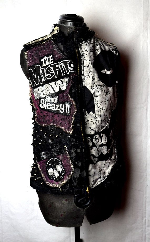 Misfits Punk Rock Sleeveless Black Denim by thedragfiendcrew, £149.00