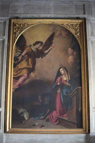 Annunciazione 1599 - Jacopo Chimenti, detto anche JACOPO DA EMPOLI o L'Empoli, dalla città natale del padre (Firenze, 30 aprile 1551 – Firenze, 30 settembre 1640)   #TuscanyAgriturismoGiratola
