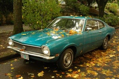 1970 Ford Maverick... my first car!  Nearly the same color even.  Funny, somehow this car looks way cooler now than I remember it looking then!
