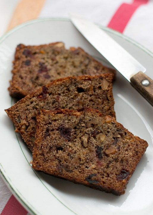 Persimmon Bread: What to make with all those beautiful persimmons? This nutty loaf!