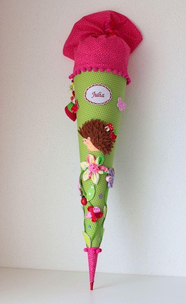 """Schultüten - Schultüte, """"Igel"""", Zuckertüte - ein Designerstück von Anastasiyas-Stoffmaerchen bei DaWanda"""