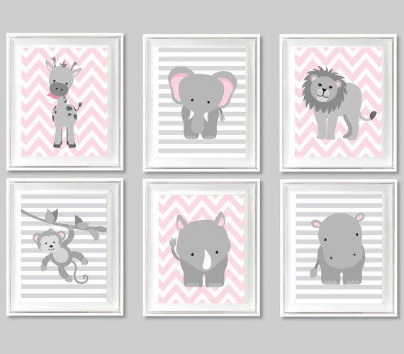Zoo Nursery Art Gender Neutral Baby Room by SweetPeaNurseryArt