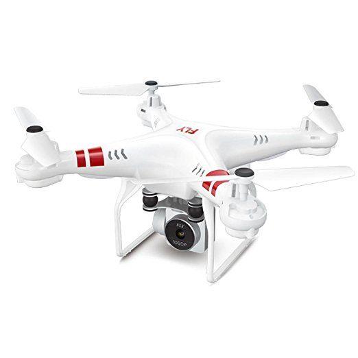 MRULIC 2.4g höhe halten, hd - kamera quadcopter rc - drohne 2mp wifi fpv helikopter schweben X52 HD - luftbild Ferngesteuerte flugzeuge (A, Weiß) drohnen Bilder drohnen hubschrauber drones photography drohnen aufnahmen drones