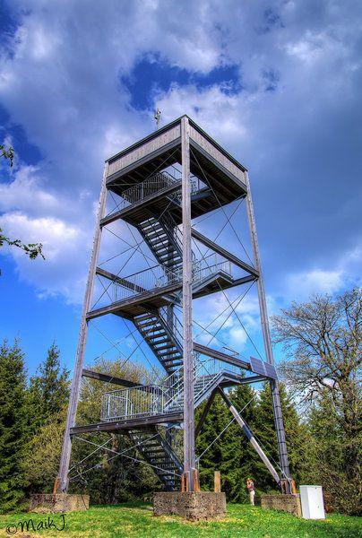 Der Dommelturm in der Nähe von Ottlar bietet eine herrliche Aussicht vom 738m…