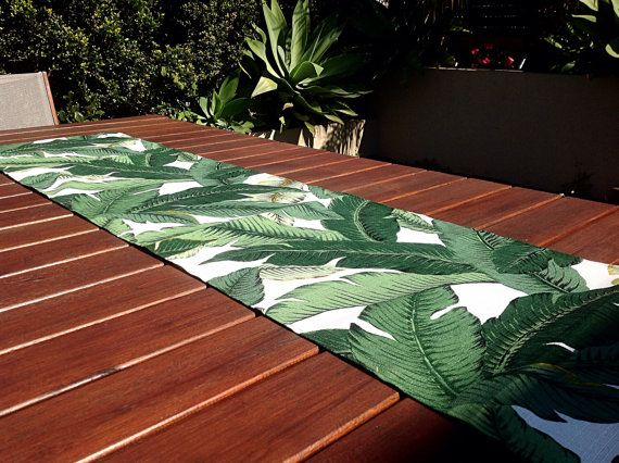 Table Runner measuring approx 190cm x 40cm. Other sizes can be made on request. Just message me. Add some tropical style to your alfresco