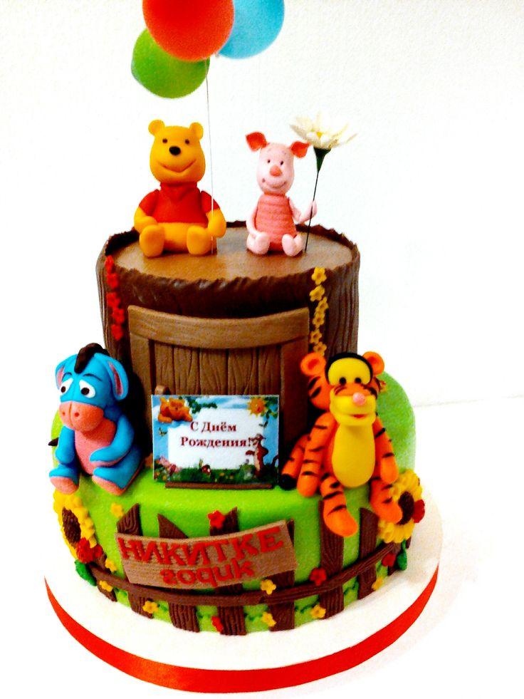 Торт Винни пух #торт_на_заказ_луганск #мульт_герои #бисквитный_торт #шоколадный_торт
