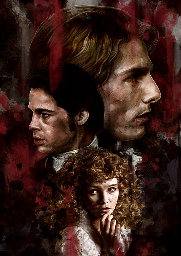 Interview With The Vampire Poster By Dmitry Belov Displate Interview With The Vampire The Vampire Chronicles Vampire
