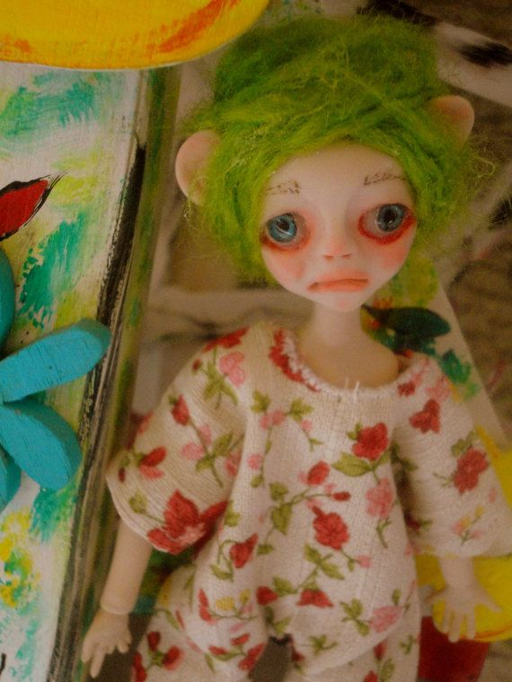 CHLOE,ooak doll,art doll,clay doll
