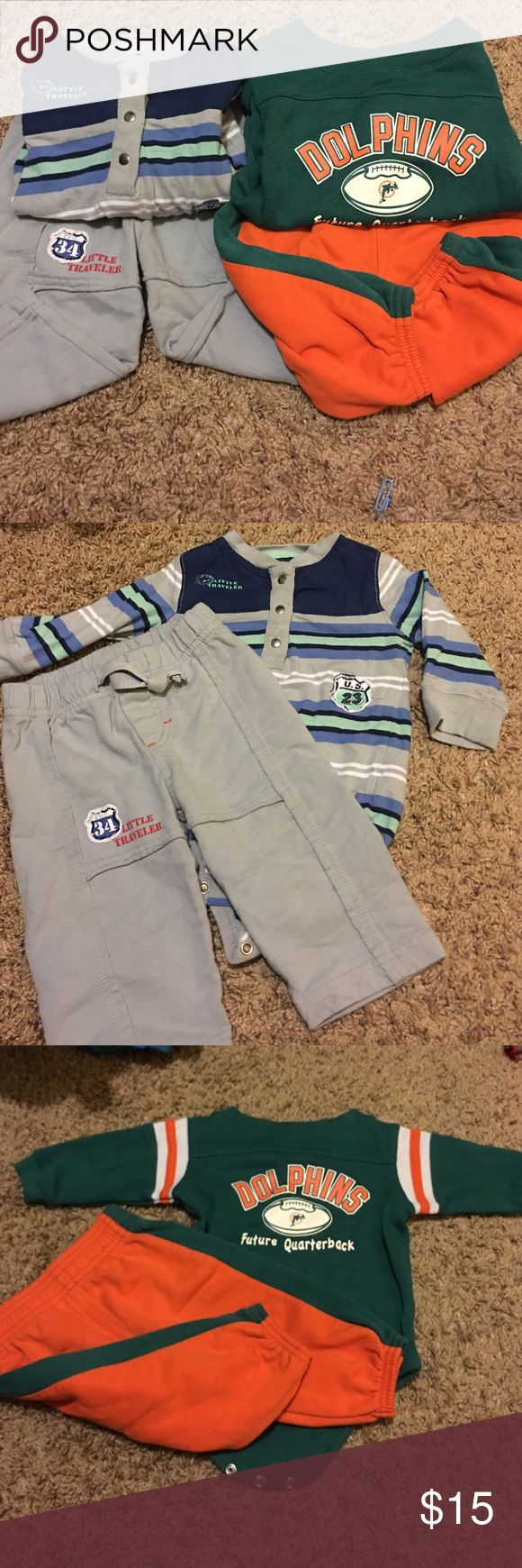 Little traveler/Miami Dolphins future quarter back Two outfits! Barely used Nfl Matching Sets