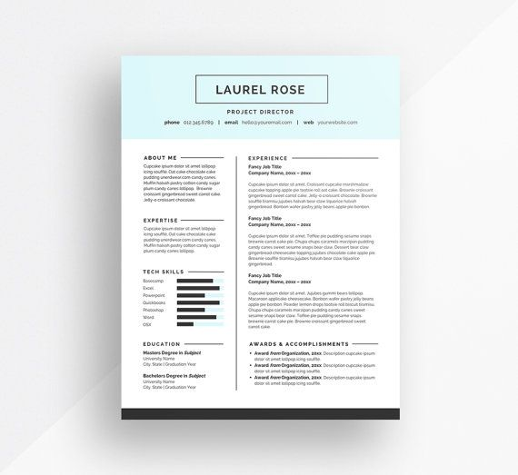 make your first impression count with the laurel resume template this instant download is available