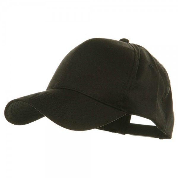 Ball Cap - Black Oversized Twill Cap // e4Hats
