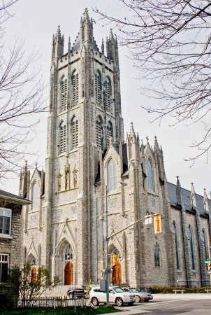 Kingston is well known for its beautiful limestone architecture, like St. Mary's Cathedral, Kingston, Ontario