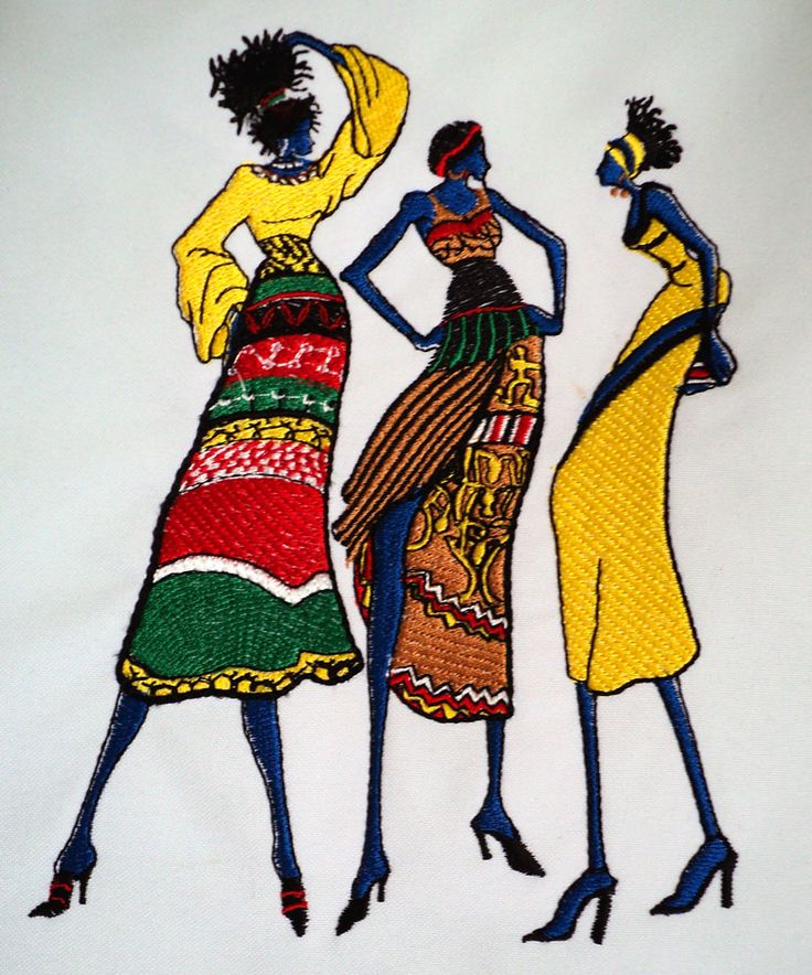 7 Best Embroidery African American Images On Pinterest African