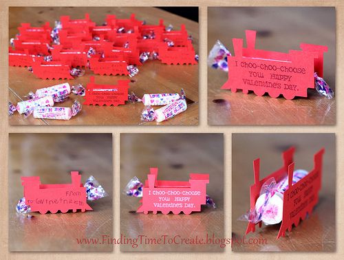 cut with the silhouetteHappy Valentine'S, Crafts Ideas, Gift Ideas, Training Valentine, Choo Valentine, Valentine'S Ideas, Choo Choo, Enfants Valentine'S Training, Kids'S Valentine'S Training