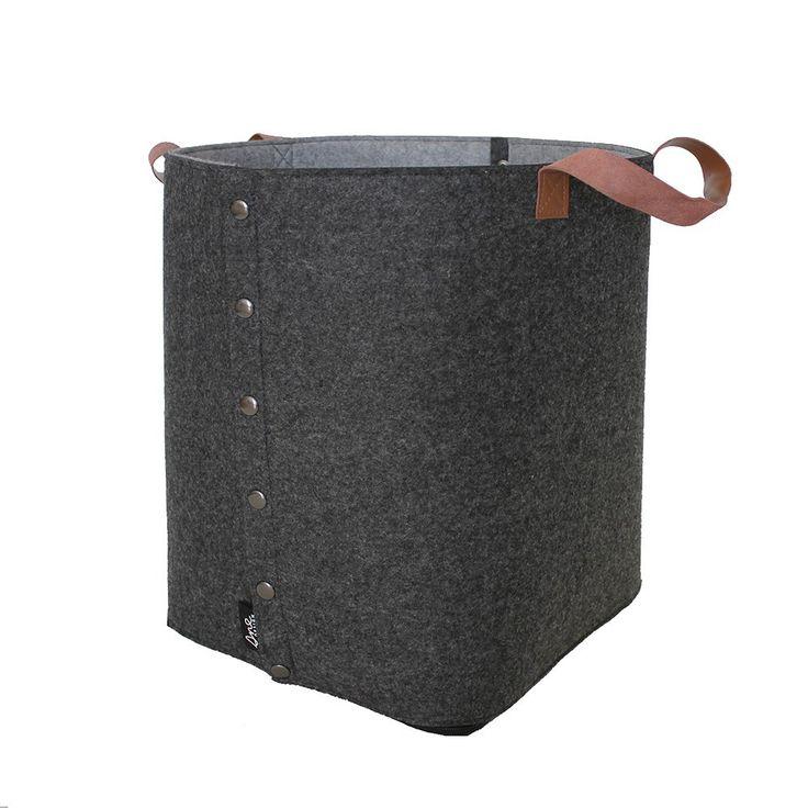 Sne Design felt storage basket with leather straps   Norsu