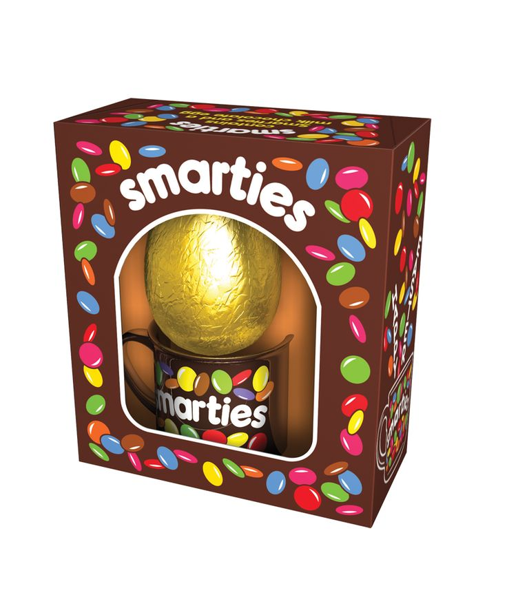 'Throwback' Smarties pack uses the old brown and white branding, with retro smarties illustrations.