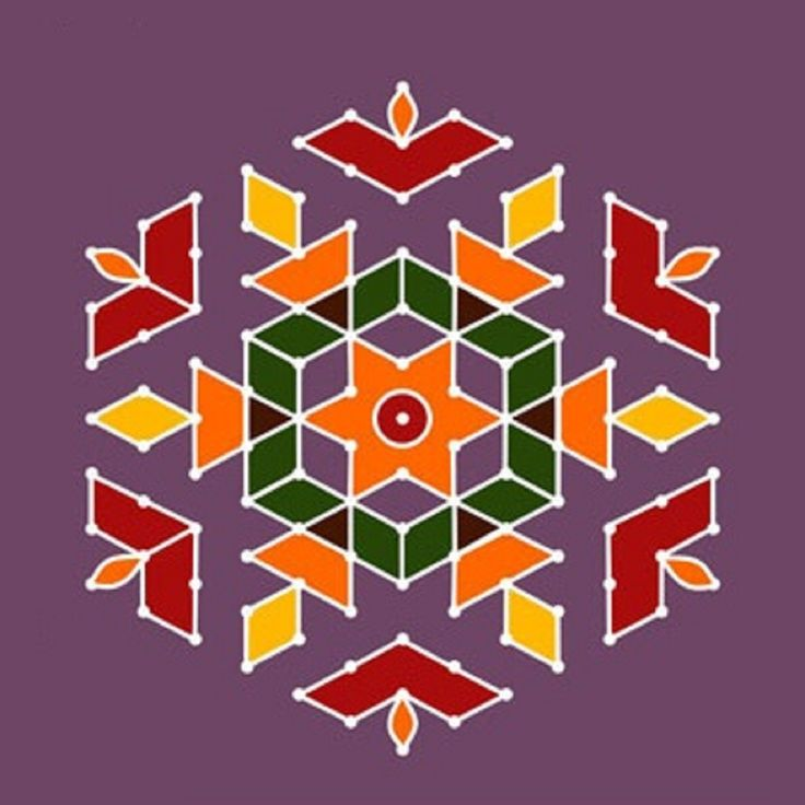 Simple dot rangoli design