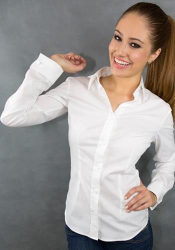 Original WOMEN - Black Lining White Polka-dot French Cuffs Shirt - Dress Shirts For Men - French-Shirts.com