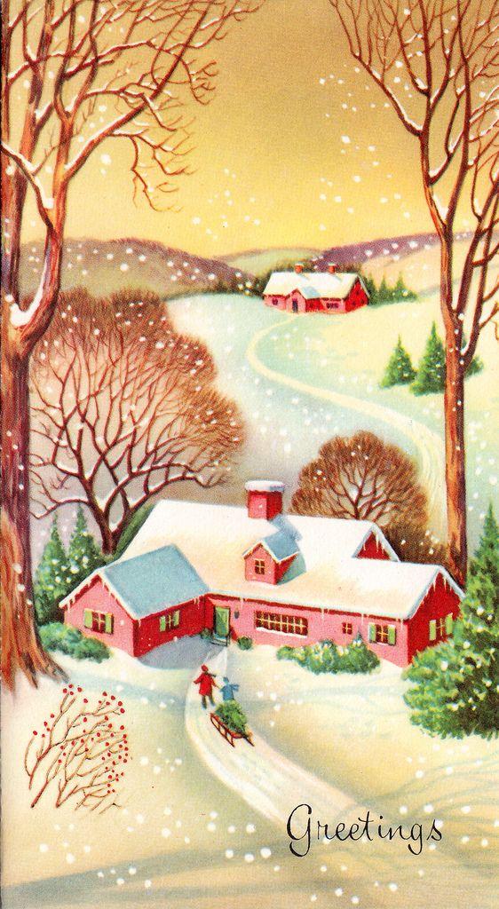 sweet vintage Christmas card