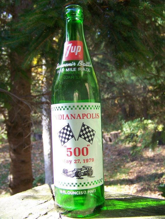 Vintage Indianapolis 500 7up Bottle 500 Mile Race May by lesaestes