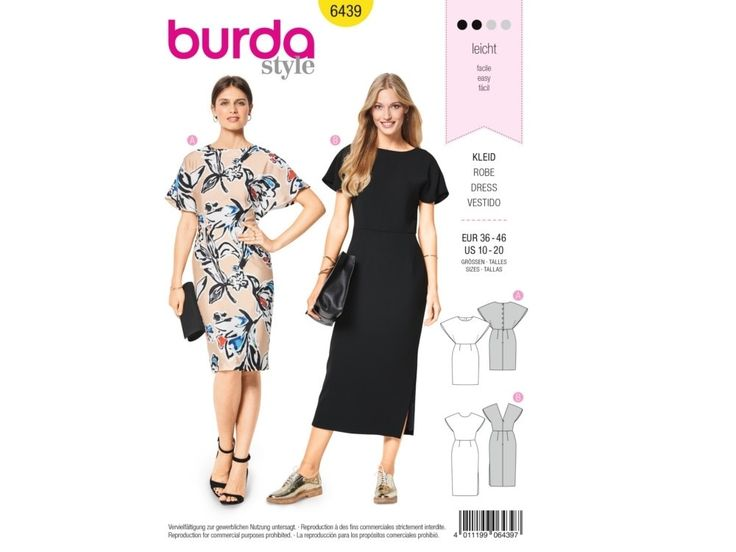 Sewing pattern dress, Burda 6439   tissus-hemmers.fr