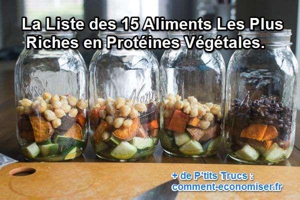 Vous vous demandez où trouver de nouvelles sources de protéines végétales ? Découvrez les 15 ingrédients les plus riches en protéines végétales que tous les végétariens devraient connaître.  Découvrez l'astuce ici : http://www.comment-economiser.fr/15-aliments-les-plus-riches-en-proteines-vegetales.html?utm_content=buffer503d3&utm_medium=social&utm_source=pinterest.com&utm_campaign=buffer