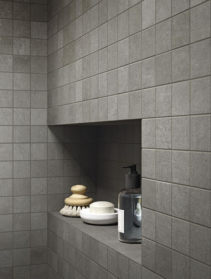 COCOON grey bathroom design inspiration byCOCOON.com | with grey tiles | high end stainless steel shower sets | modern design products for bathroom and kitchen | renovations | villa design | hotel design | Dutch Designer Brand COCOON